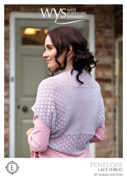 Penelope Lace Simple Shrug in West Yorkshire Spinners Exquisite Lace - Downloadable PDF