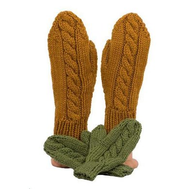 Easy Cable Mittens
