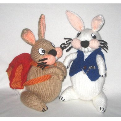 Backpacking Bunny & White Rabbit