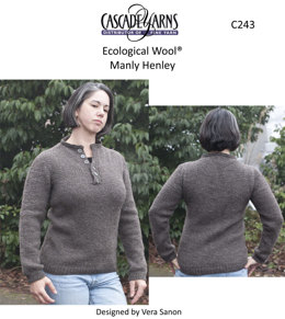 Manly Henley in Cascade Ecological Wool - C243