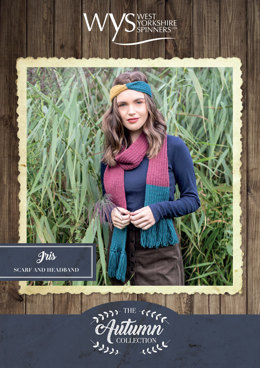 Iris Headband and Scarf in West Yorkshire Spinners Bluefaced Leicester Solids DK - Downloadable PDF
