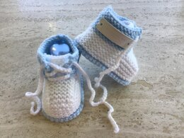 Baby Boy Lace Up Booties