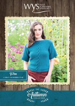 Fern Cable and Bobble Top in West Yorkshire Spinners Bluefaced Leicester Solids Aran - Downloadable PDF