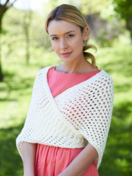 Knit Triangular Shawl in Caron Simply Soft - Downloadable PDF