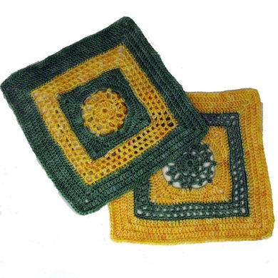"""Picots and Lace - 8"""" square"""