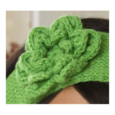Red Heart Free Pattern Lw2254 Crochet Flower Headband : Knit Headband with Crochet Flower in Red Heart Shimmer ...