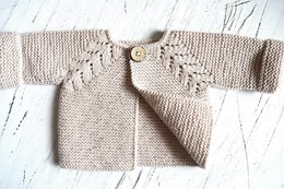 Norwegian Fir Top Down Cardigan - P109