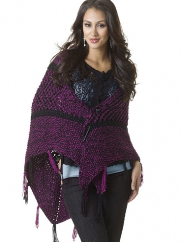 Subtle Sparkle Shawl In Caron Simply Soft Collection And
