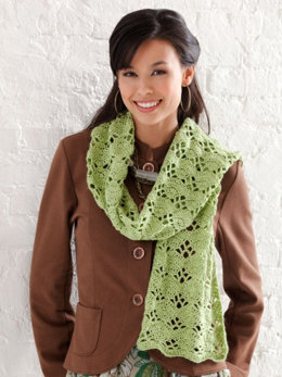Wrap It Up Scarf in Caron Simply Soft Light - Downloadable PDF