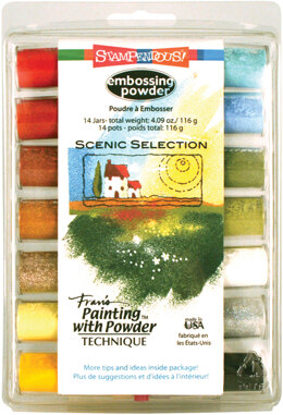 Stampendous Embossing Powder 14/Pkg 4.09oz - Scenic Selection