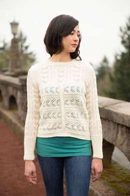Fields of Wheat Sweater in Imperial Yarn Tracie Too - PC45-D