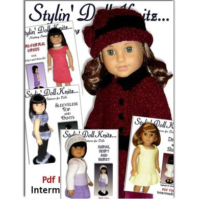 Knitting Patterns For Doll Clothes Fit American Girl Doll 18 Inch
