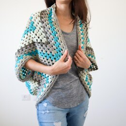 Continuous Granny Square Shrug