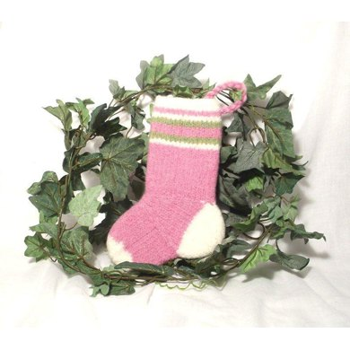 Baby's First Christmas Stripy Stocking