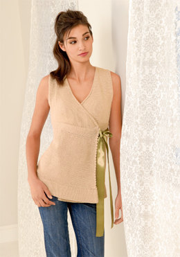 Sleeveless Wrap Top in Blue Sky Fibers Skinny Cotton - Downloadable PDF