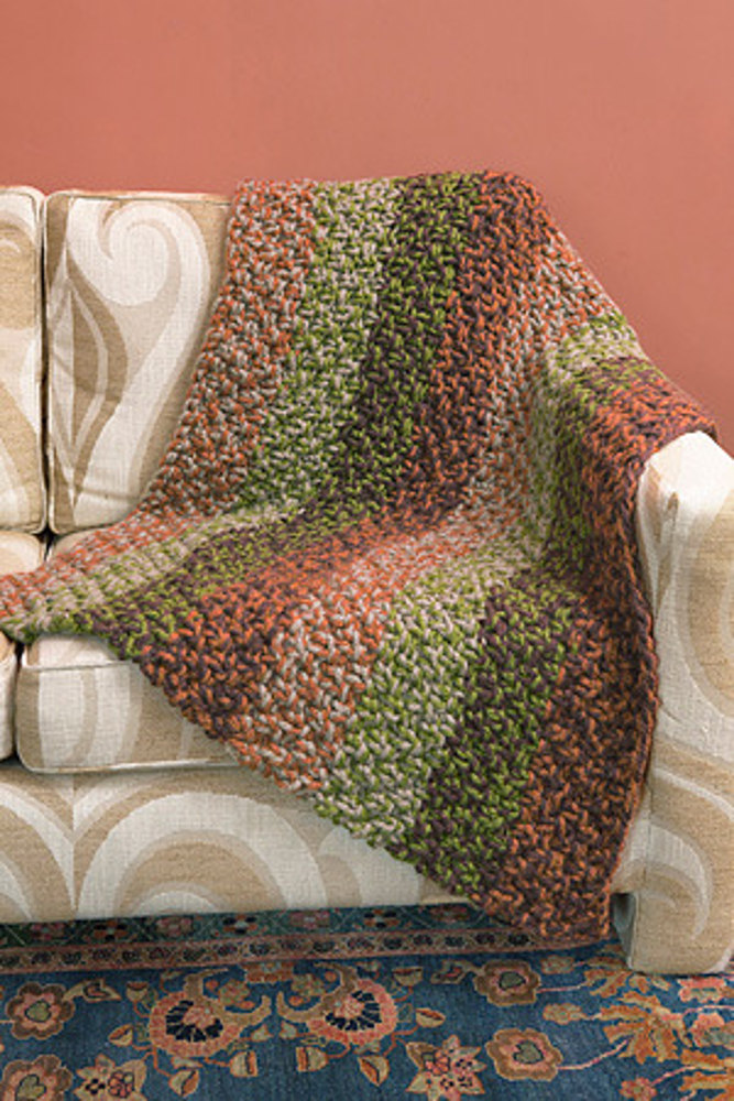 Spiced Knit Afghan In Lion Brand Wool Ease Thick Amp Quick