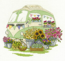 DMC Les Fleurs 14 Count Cross Stitch Kit