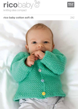 Waistcoat and Cardigan in Rico Baby Cotton Soft DK - 242