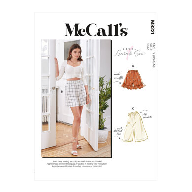 McCall's Misses' Shorts M8221 - Sewing Pattern