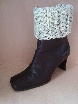 658 CROCHET Boot cuffs, tall or rolled down