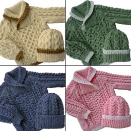 Baby to Toddler Cable Sweater & Hat