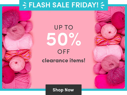 Up to 50 percent off clearance items!