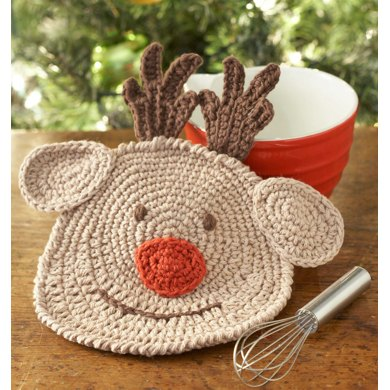 Snap Granny Strawberry Dishcloth In Lily Sugar And Cream Solids