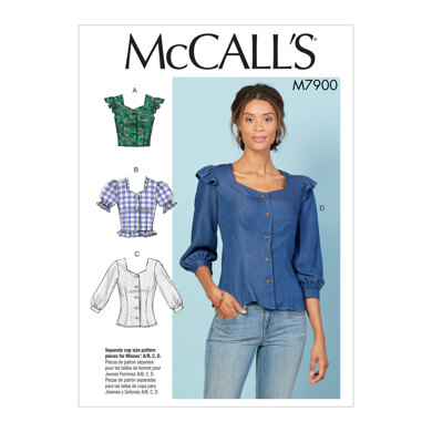 McCall's Misses' Tops M7900 - Sewing Pattern