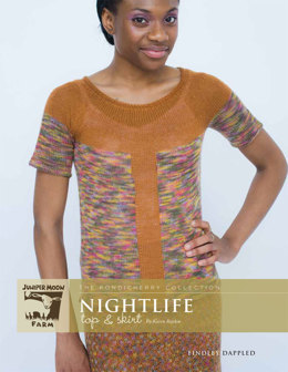 Nightlife Top Skirt in Juniper Moon Farm Findley and Findley Dappled - Downloadable PDF
