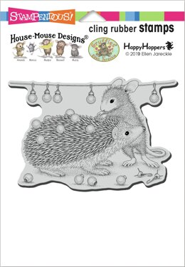 Stampendous House Mouse Cling Stamp - Holiday Hedgehog