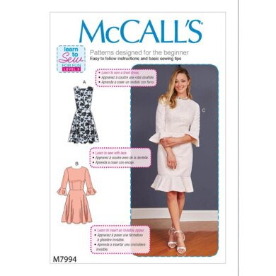 McCall's Misses' Women's Dresses M7994 - Sewing Pattern