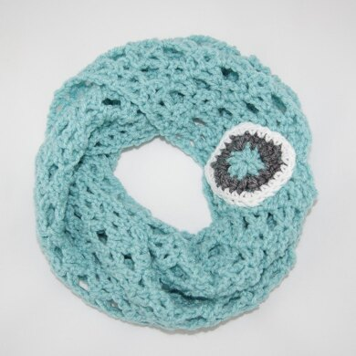 Diamond Lace Infinity Scarf for Girls and Ladies