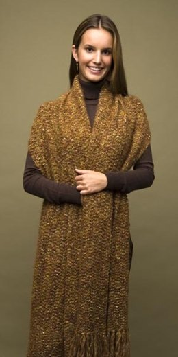Crochet Elegant Comfort Shawl in Lion Brand Moonlight Mohair - 60392-C