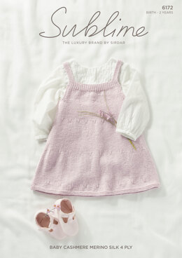 Dress in Sublime Baby Cashmere  Merino Silk 4 Ply - 6172 - Leaflet