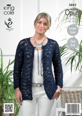 Womens' Cardigans in King Cole Opium - 3882