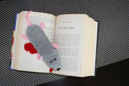 Squashed Rat Knitted Bookmark