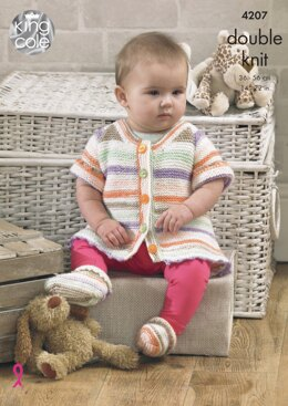 Baby Set in King Cole DK - 4207 - Downloadable PDF