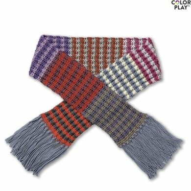 Knit Stripe Scarf in Caron x Pantone - Downloadable PDF