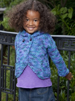 Two-Button Hoodie in Caron Simply Soft Paints - Downloadable PDF