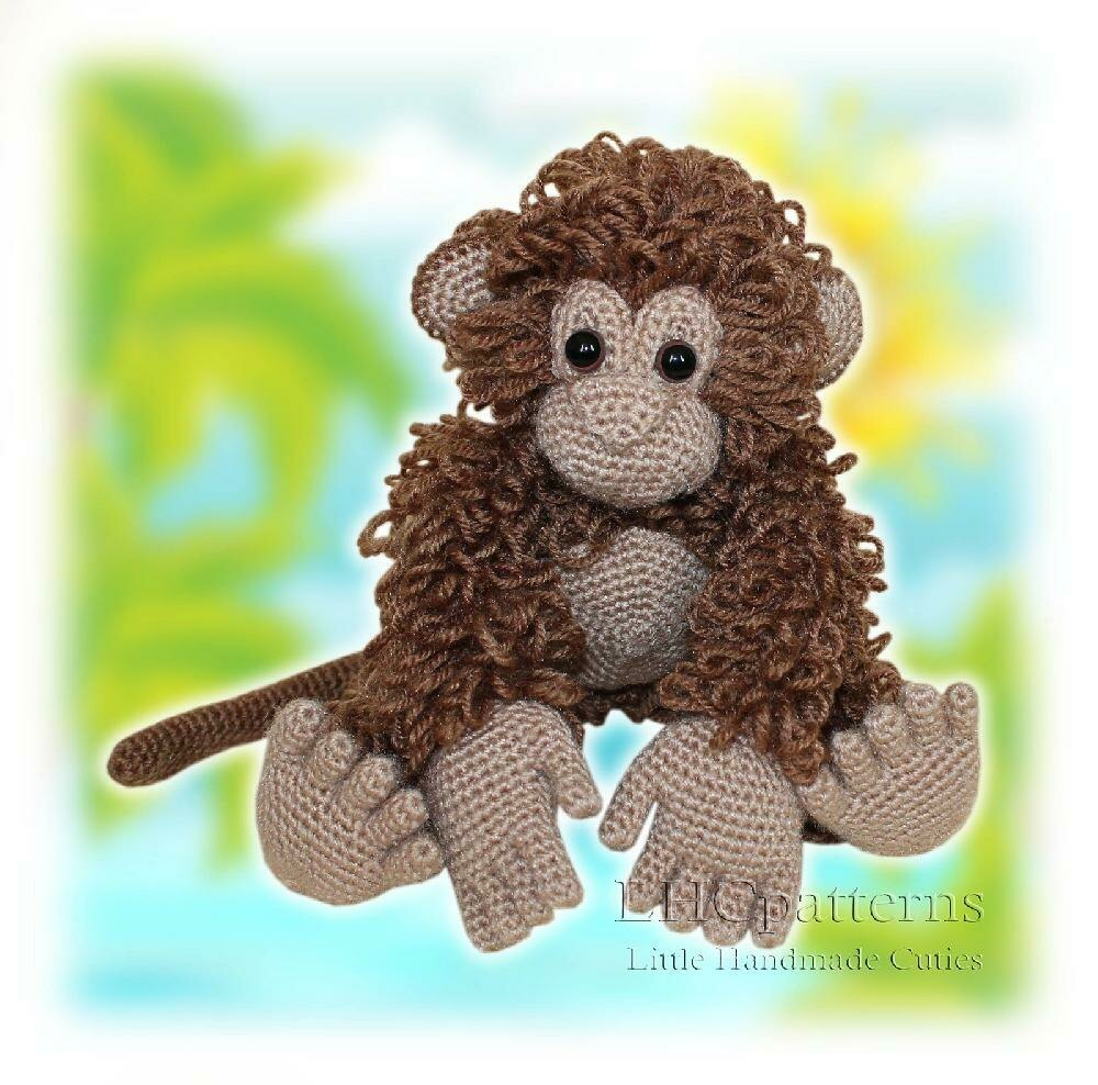 Monkey Crochet Pattern Amigurumi Monkey Pattern Crochet Animals