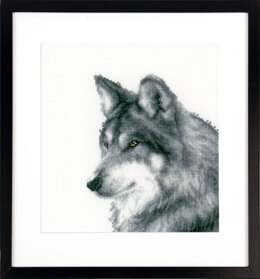 Vervaco Wolf Cross Stitch Kit -  15cm x 18cm