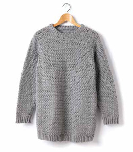 Child's Crochet Crew Neck Pullover in Caron Simply Soft - Downloadable PDF