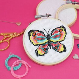 The Make Arcade Mini Cross Stitch - Butterfly