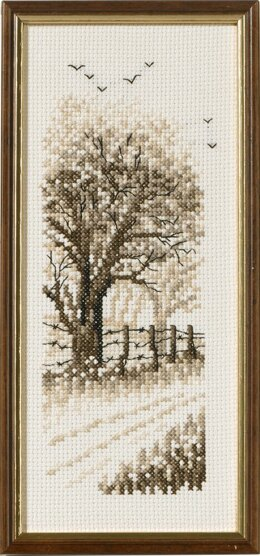 Permin Edge of the Wood Cross Stitch Kit - 9cm x 22cm