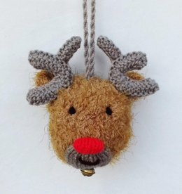 Rudolph Reindeer Jingle Bell Bauble
