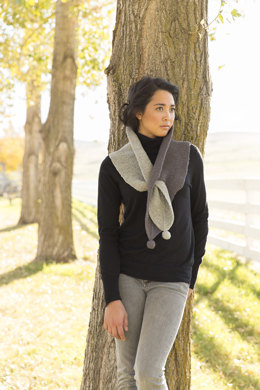 Coyote Keyhole Scarf in Imperial Yarn Columbia - P117 - Downloadable PDF