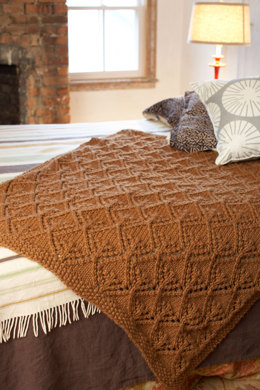 Autumn Lace Afghan in Lion Brand Wool-Ease Thick & Quick - 80878AD