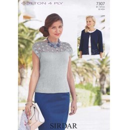 Top and Cardigan in Sirdar Cotton 4 Ply - 7307