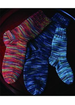 Sock Family in Misti Alpaca Hand Paint Lace - 2009