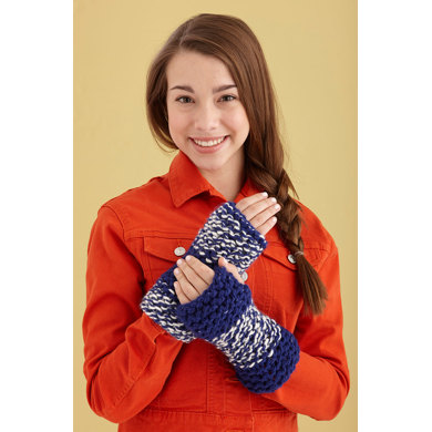 Learn To Knit Cuffs in Lion Brand Wool-Ease Thick & Quick - L0449B